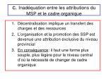 c inad quation entre les attributions du msp et le cadre organique