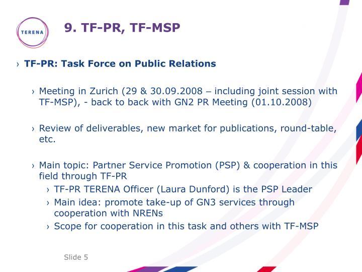9. TF-PR, TF-MSP