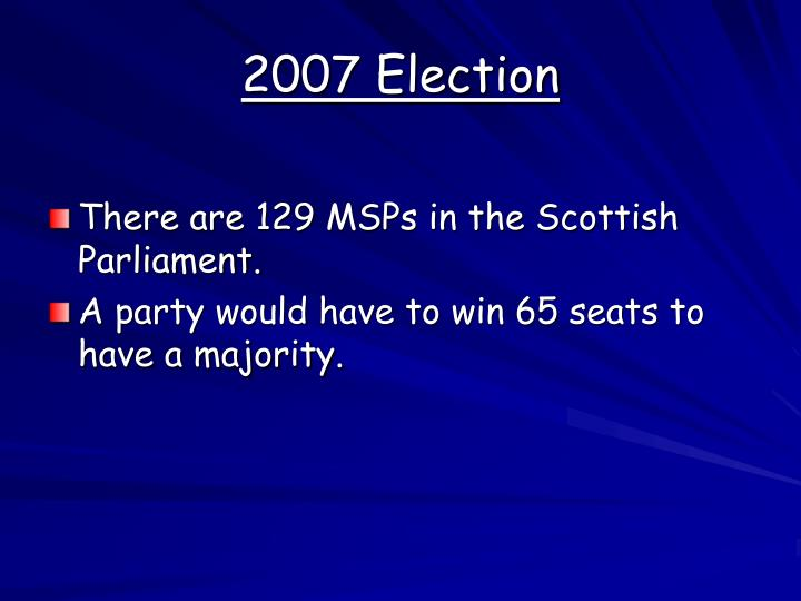 2007 Election