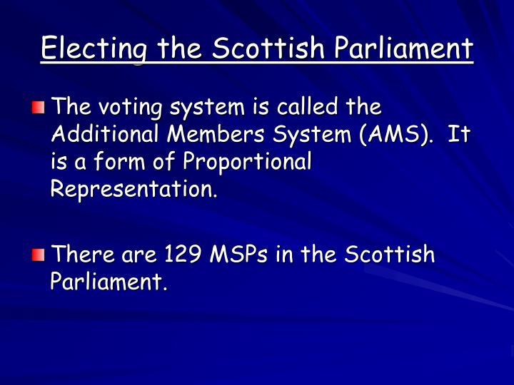 Electing the Scottish Parliament