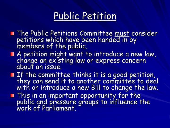 Public Petition