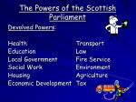 the powers of the scottish parliament1