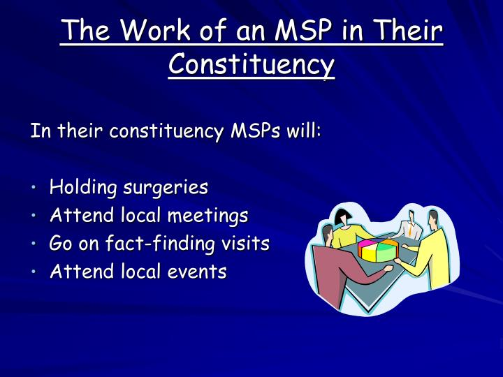 The Work of an MSP in Their Constituency