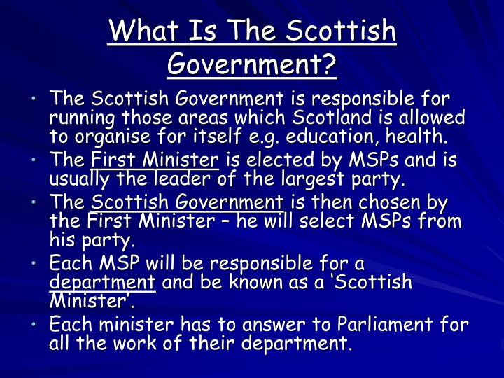 What Is The Scottish Government?