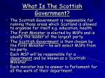 what is the scottish government