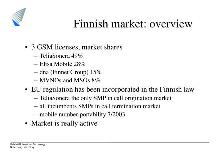 Finnish market: overview