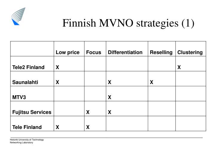 Finnish MVNO strategies (1)