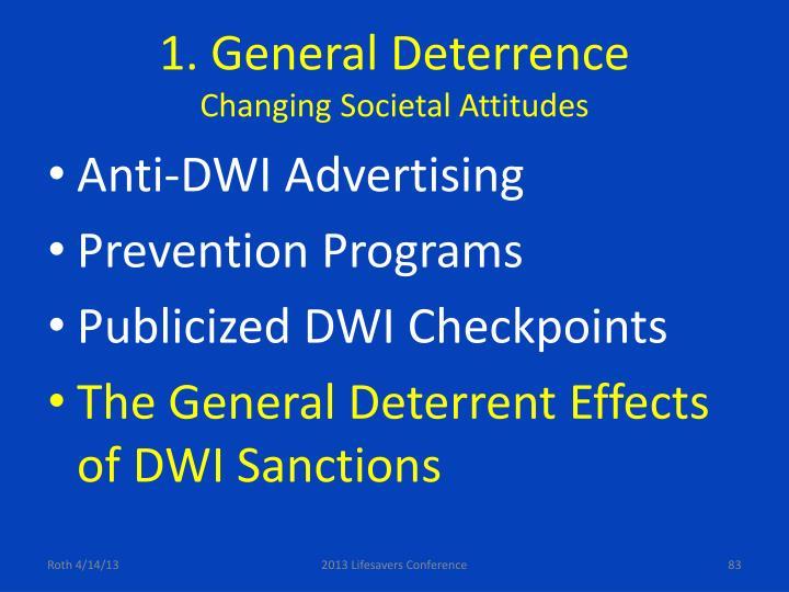 1. General Deterrence