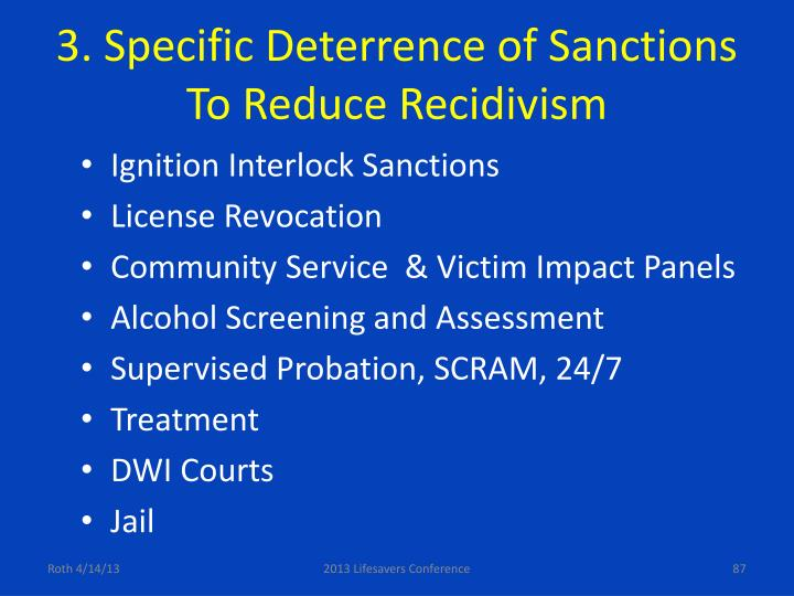 3. Specific Deterrence of Sanctions
