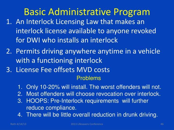 Basic Administrative Program