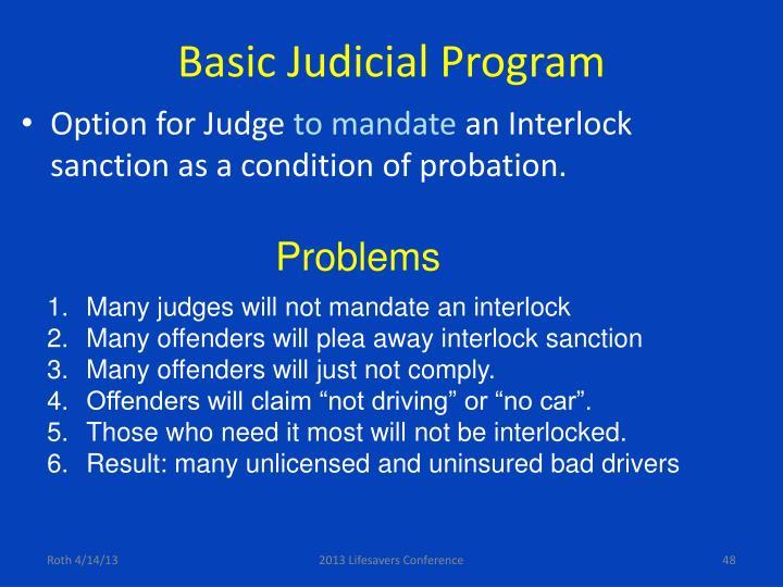 Basic Judicial Program
