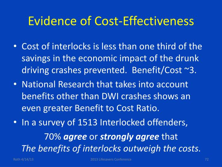 Evidence of Cost-Effectiveness