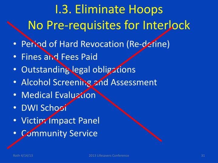 I.3. Eliminate Hoops