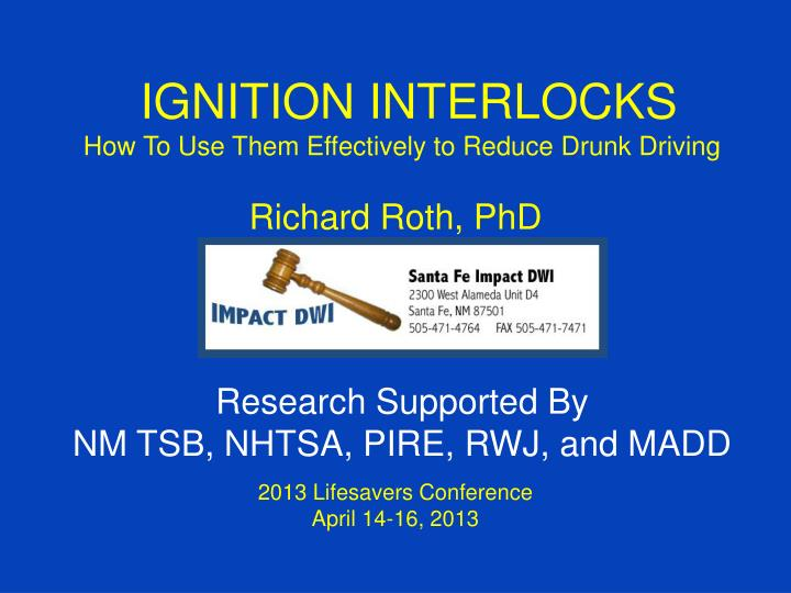 IGNITION INTERLOCKS