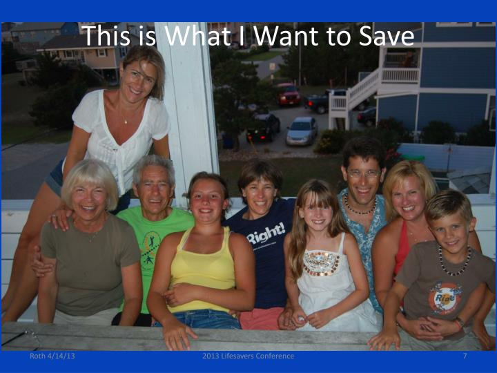 This is What I Want to Save