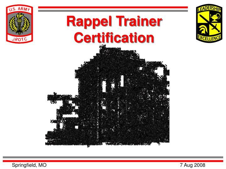 Rappel Trainer Certification