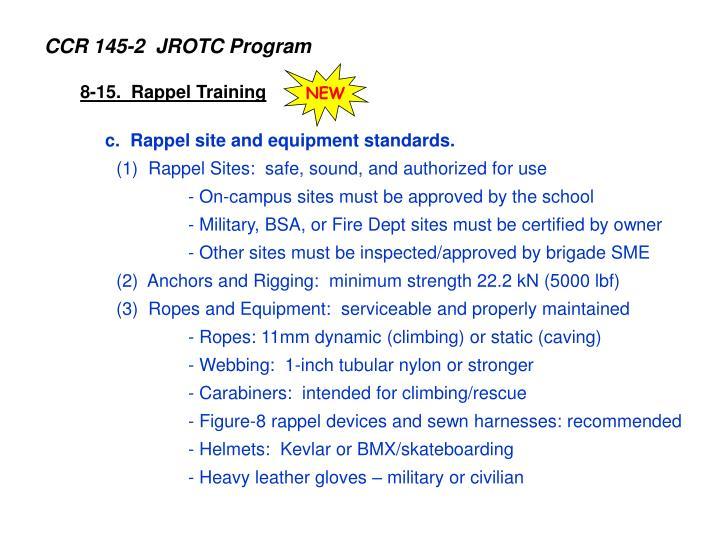 CCR 145-2  JROTC Program