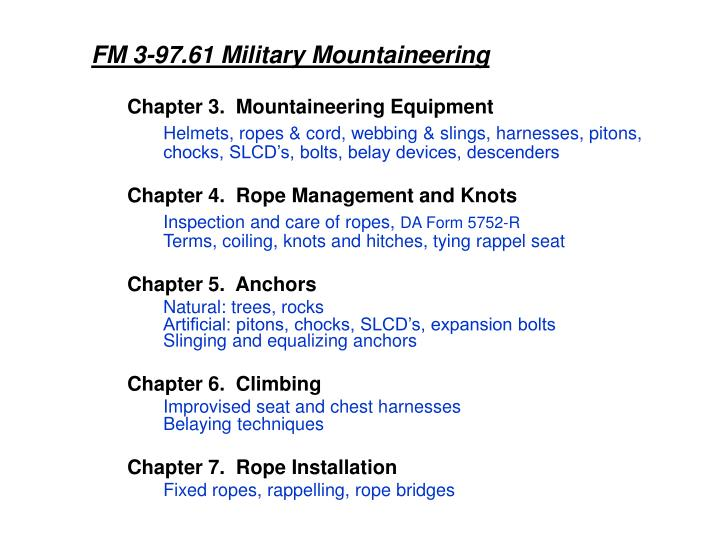 FM 3-97.61 Military Mountaineering