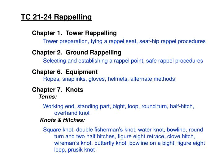 TC 21-24 Rappelling