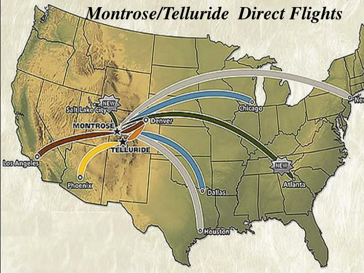 Montrose/Telluride  Direct Flights
