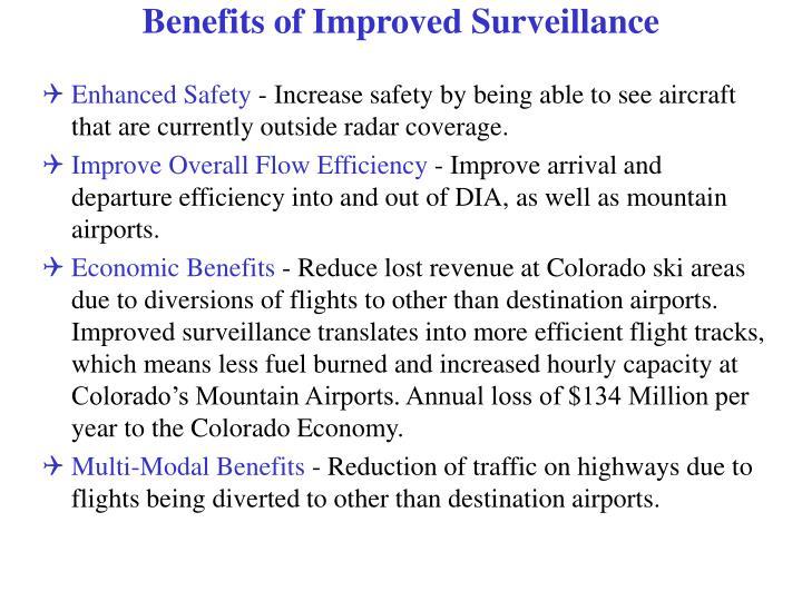 Benefits of Improved Surveillance