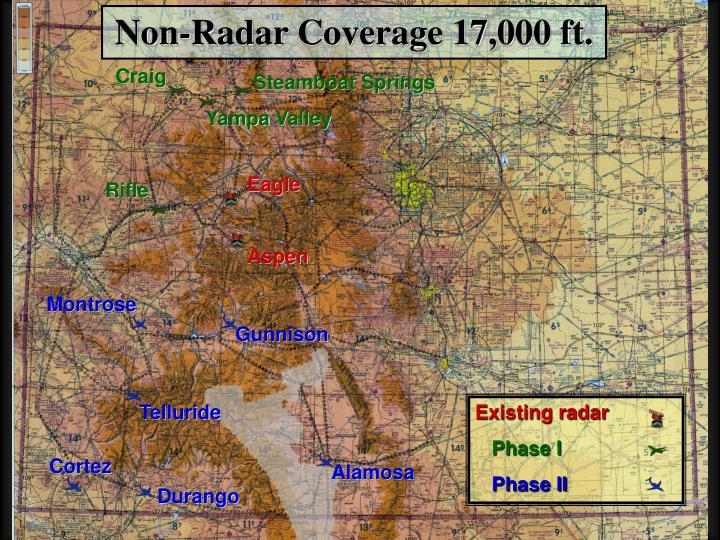 Non-Radar Coverage 17,000 ft.