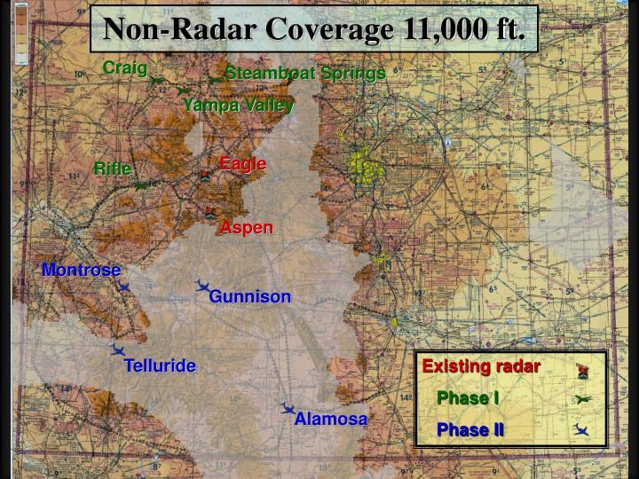 Non-Radar Coverage 11,000 ft.