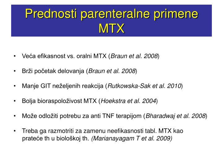 Prednosti parenteralne primene MTX