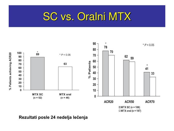 SC vs. Oralni MTX