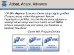 adopt adapt advance