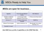 msos ready to help you