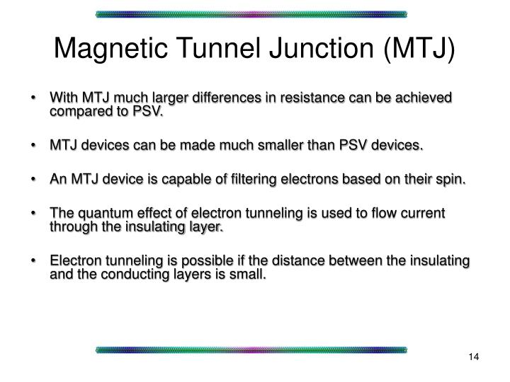 Magnetic Tunnel Junction (MTJ)