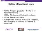 history of managed care1