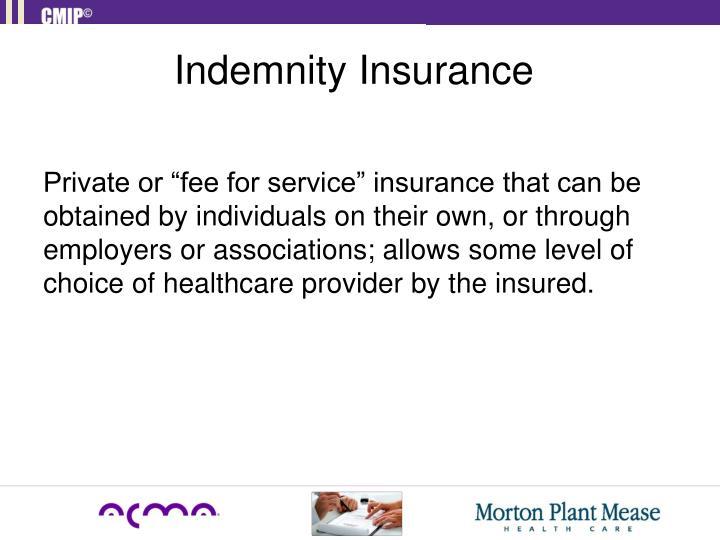 Indemnity Insurance