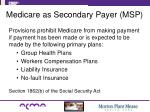 medicare as secondary payer msp