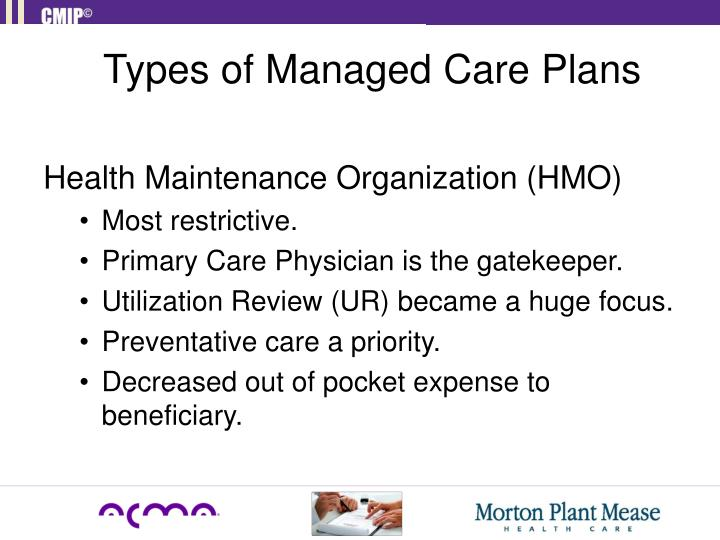 Types of Managed Care Plans