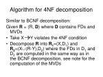 algorithm for 4nf decomposition