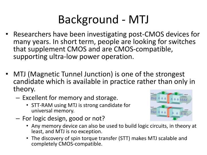 Background - MTJ