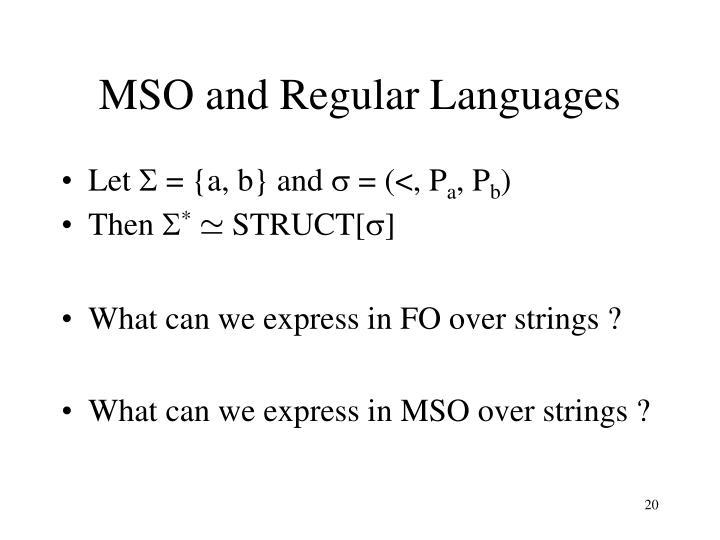 MSO and Regular Languages