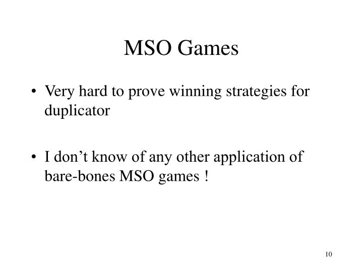 MSO Games