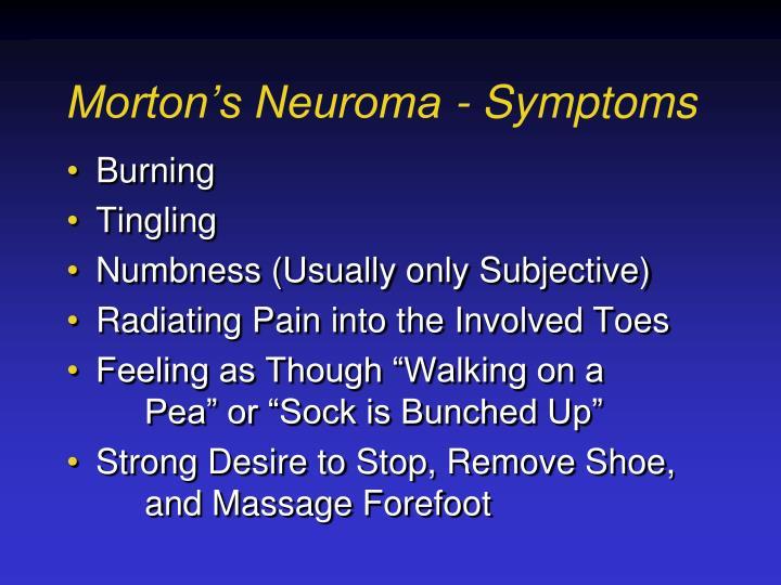 Morton's Neuroma - Symptoms