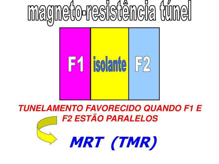magneto-resistência túnel