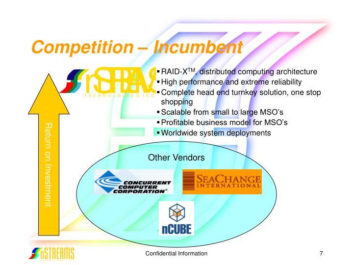 Competition – Incumbent