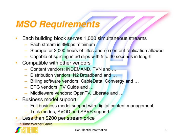 MSO Requirements