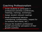 coaching professionalism