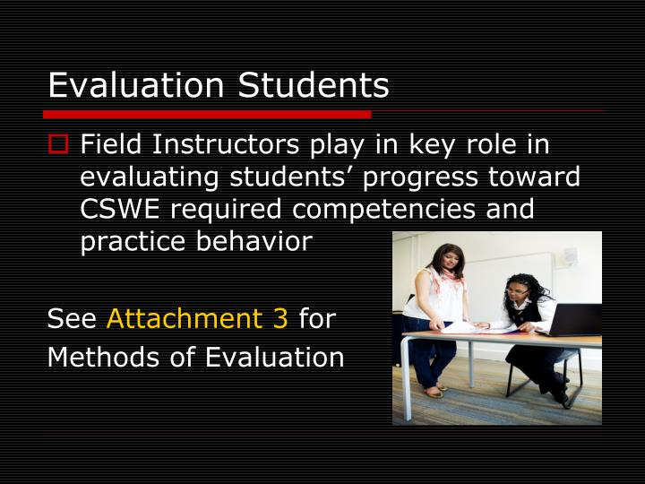 Evaluation Students