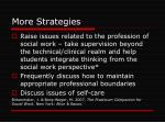 more strategies