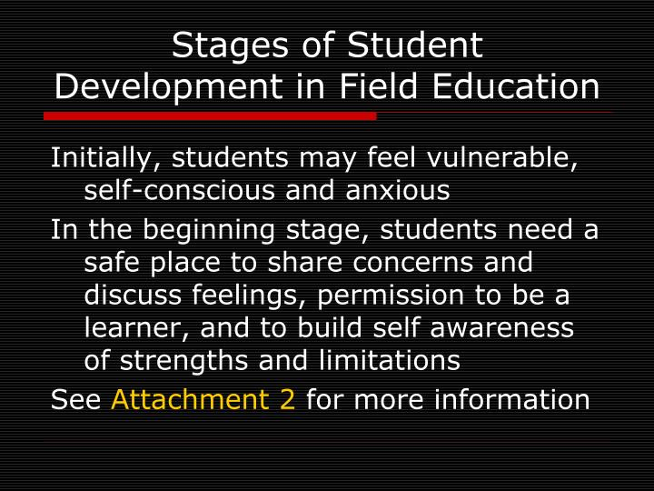 Stages of Student