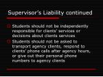 supervisor s liability continued