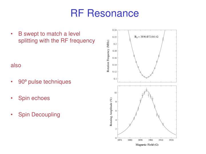 RF Resonance